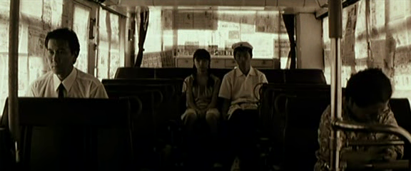 "Bus Driver (left) and the children in the back at the moment of the bus hijacking. Shinji Aoyama ""Eureka"""